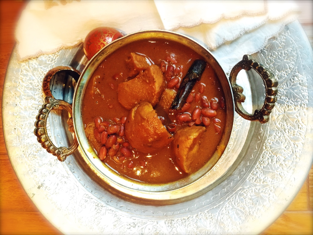Red Beans with Turnips - Kashmiri Cuisine