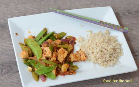 Tofu and Snow Peas Stir Fry