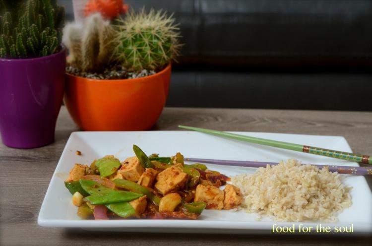 Tofu and Snow Peas Stir Fry