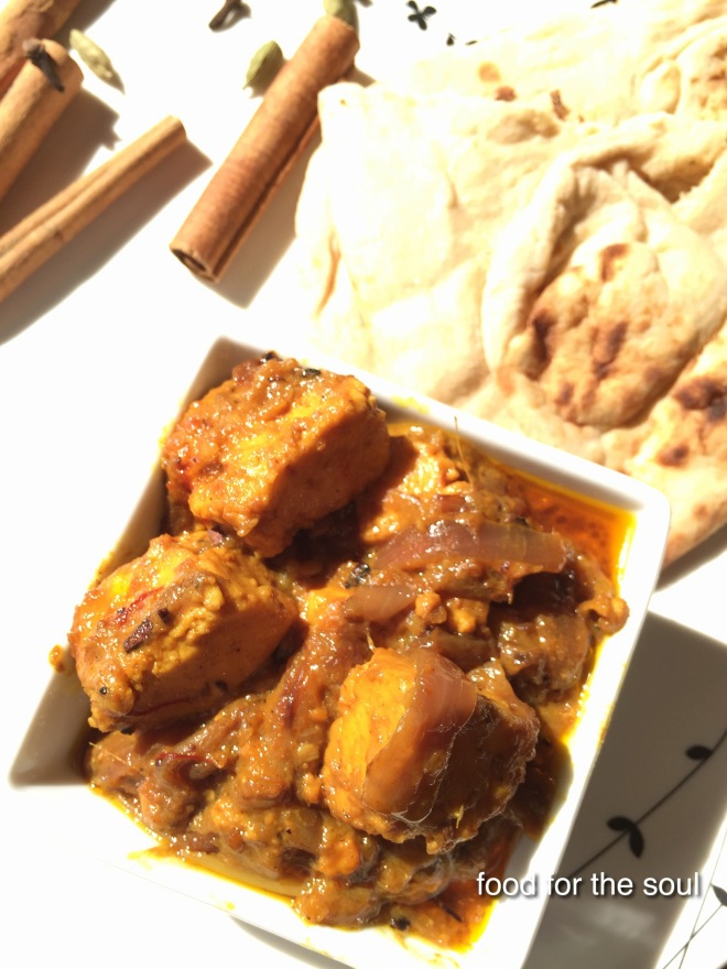 Saffron  Paneer with Onion Gravy