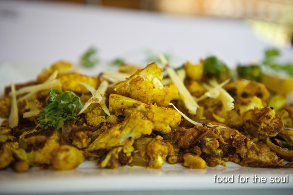 Roasted Cauliflower with fresh Ginger
