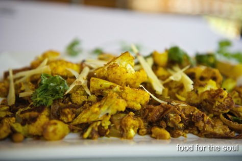 Roasted Cauliflower with fresh Ginger