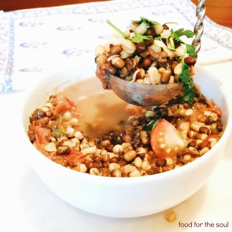Sprouted Urad Dal Soup