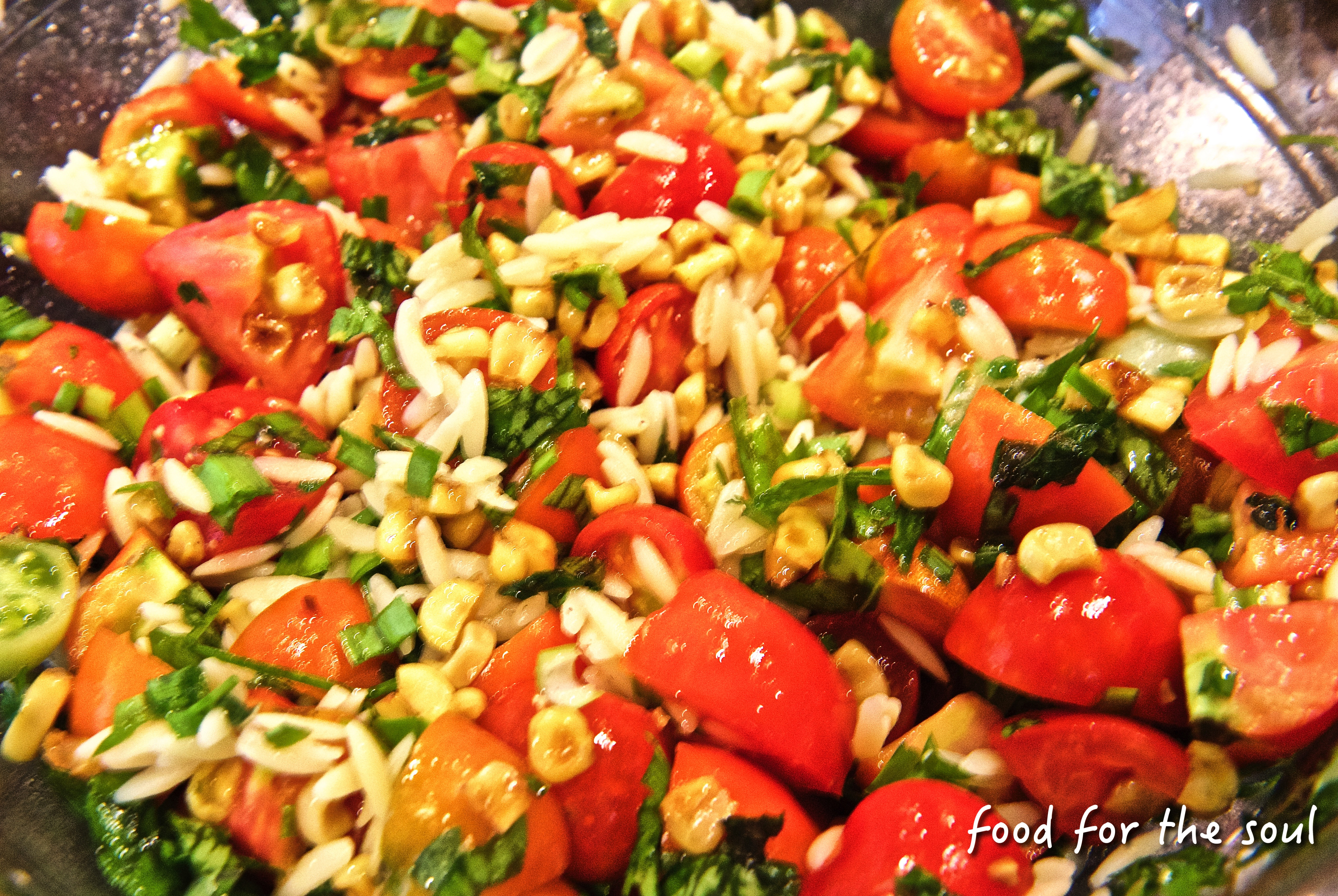 Garden Tomato and Roasted Corn – Picnic Salad | Food For The Soul