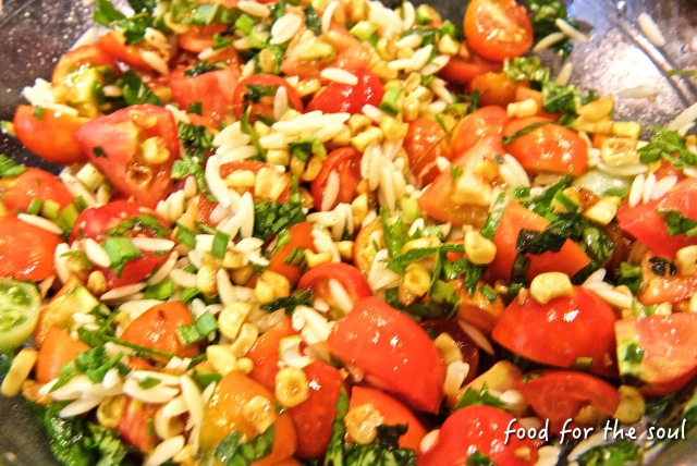 Tomato And Corn Salad With Marjoram Recipe — Dishmaps