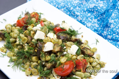Fava, Feta and Roasted Eggplant