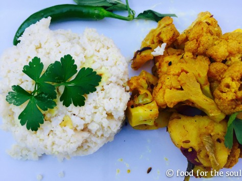 Aloo Gobi with Quinoa