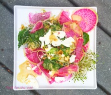 Watermelon Radish Salad with Ginger Miso dressing