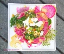 Watermelon Radish Salad with Ginger Miso dressing